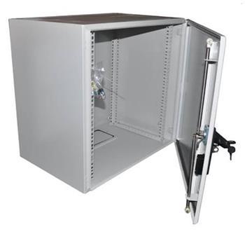"""19"""" OCRACK venkovní rozvaděč IP55 12U-420mm plechové dveře 3-bodový zámek"""