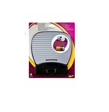 3M Gelová podložka pod myš s oporou zápěstí, koženka, Precise™ povrch podložek, stříbrná