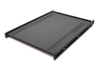 APC Netshelter pevná police, nosnost 114 kg, 1U, 67,3-82,5 cm, černý