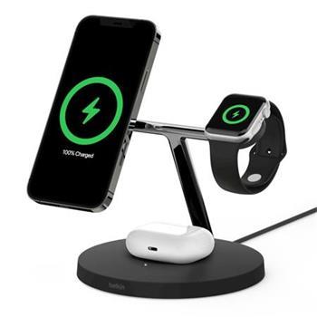 Belkin BOOST CHARGE™ PRO MagSafe 3v1 Bezdrátové nabíjení pro iPhone/Apple Watch/AirPods, černá