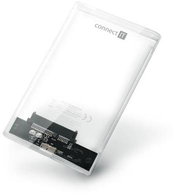 """CONNECT IT ToolFree Clear externí box pro HDD 2,5"""""""