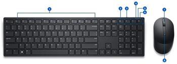 Dell Pro bezdrátová klávesnice a myš - KM5221W - CZ