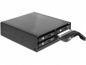 """Delock 5.25"""" Mobilní výměnný rámeček pro 4 x 2.5"""" SATA HDD / SSD"""