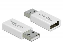Delock Blokátor přenosů dat ze zástrčkového adaptéru USB 2.0 Typu-A na zásuvkový Typu-A