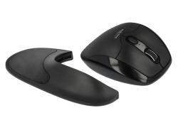 Delock Ergonomická optická 5-tlacítková myš 2,4 GHz bezdrátová s operkou zápestí - pro praváky