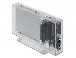 """Delock Externí pouzdro pro 2 x HDD / SSD SATA 2.5"""" se zásuvkovým průhledným konektorem USB Type-C™ - beznástrojový"""