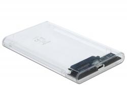 """Delock Externí pouzdro pro HDD / SSD SATA 2.5"""" s rozhraním SuperSpeed USB 10 Gbps (USB 3.1 Gen 2)"""
