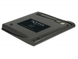"Delock Externí skříň pro 5.25"" Ultra Slim disky SATA 9,5 mm na USB Typ-A samec"