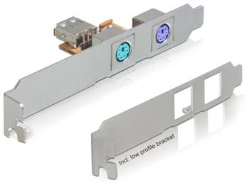DeLock Konvertor USB->2x PS/2 záslepka do slotu, +low profile