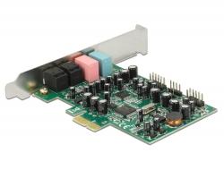 Delock PCI Express karta 7.1 zvuková karta 24 Bit / 192 kHz s TOSLINK vstup / výstup