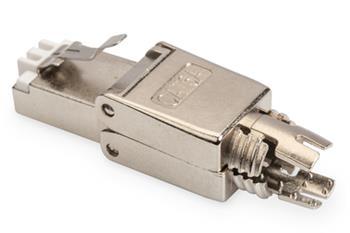 Digitus CAT 6A FTP beznástrojový konektor, AWG 22-27, víčko a kovová západka