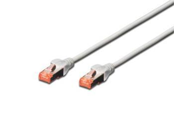 Digitus Patch Cable, S-FTP, CAT 6, AWG 27/7, LSOH, Měď, šedý 3m