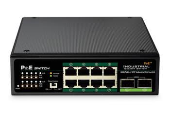 DIGITUS Professional Industrial 8-port Gigabit PoE+ switch with 2x SFP uplink ports
