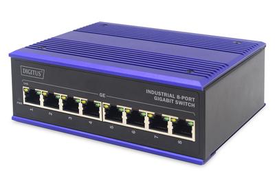DIGITUS Professional Industrial 8-Port Gigabit Switch