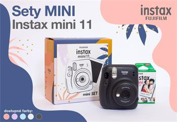 Fujifilm INSTAX MINI 11+ 10 SHOTS - Charcoal Gray