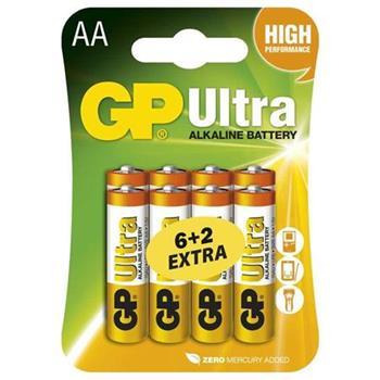 GP AA Ultra alkalická - 8 ks (6 + 2 ks ZDARMA)