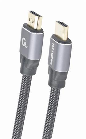 Kabel CABLEXPERT HDMI 2.0, 2m, opletený, černý, ethernet, blister
