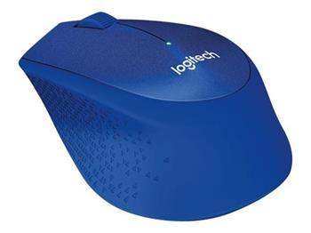 Logitech myš Wireless M330 Silent Plus, optická, bezdrátová, 3 tlačítka, modrá, 1000dpi