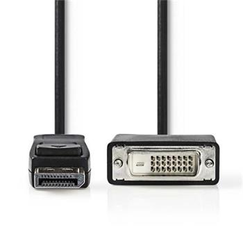 Nedis CCGP37200BK30 - DisplayPort – DVI Kabel   DisplayPort Zástrčka - DVI-D 24+1-Pin Zástrčka   3 m   Černá barva