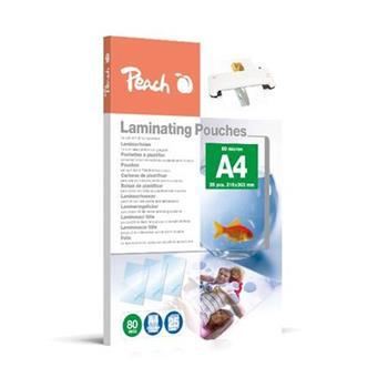 PEACH laminovací folie A4 (216x303mm) Laminating Pouch , 80mic, lesklé, 25 ks