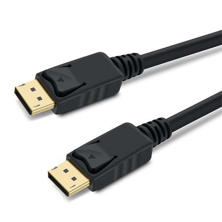 PremiumCord DisplayPort 1.3 přípojný kabel M/M, zlacené konektory, 1,5m