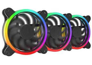 SilentiumPC sada přídavných ventilátorů Corona HP EVO ARGB 120 3-pack / 3x 120mm fan / ARGB LED / ultratichý