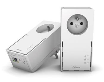 STRONG sada 2 adaptéru Powerline 1000 DUO FR/ 1000 Mbit/s/ 1x LAN/ bílý