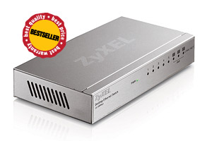 ZyXEL ES-108A v3, 8-port 10/100Mbps Ethernet switch, 3x Qos (!), desktop, metal housing